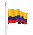 colombia flag vector image vector image
