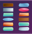 colorful options select window set vector image