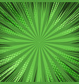 comic green explosive blank background vector image vector image