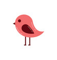 cute bird animal wild nature vector image vector image