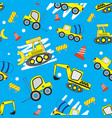 cute car cartoon seamless pattern with blue vector image
