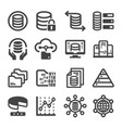 data icon vector image vector image