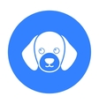 Dog muzzle icon in black style for web vector image vector image