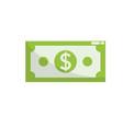 dollar bill cash money icon vector image