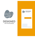egg easter holiday grey logo design and business vector image vector image
