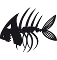 Evil Fish Skeleton vector image vector image