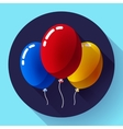 Festive multicolored air balloons icon holiday vector image vector image
