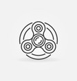 fidget spinner icon vector image vector image
