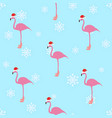 flamingo winter style seamless pattern vector image vector image