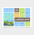 flat city landscape composition vector image