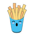 french fries fast food cute kawaii cartoon vector image vector image
