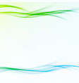 fresh abstract modernistic spring swoosh wave vector image vector image