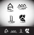 Grunge drawing real estate logo set vector image vector image