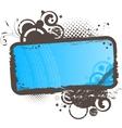 Grunge floral blue frame vector image vector image