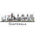 guatemala city skyline with gray buildings vector image vector image
