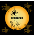 Halloween ghosts and candles to the moon vector image vector image
