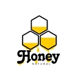 Hand-drawn honeycomb logo for honey products vector image