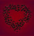 happy valentine day banner creative wreath vector image vector image
