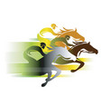 horse race in autumn colors vector image vector image