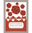 Invitation card Eat me cookie from Wonderland vector image vector image