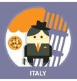 Italian Mafia Men in a Suit vector image