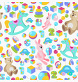kids toys colorful seamless pattern vector image