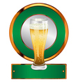 Label with beer glass vector image vector image