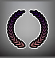 laurel wreath sign violet gradient icon vector image