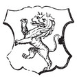 lion rampant double-headed is a common charge in vector image vector image