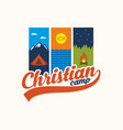 logo of the christian camp vector image vector image