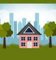 lovely house family suburb landscape vector image
