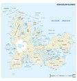 map french archipelago kerguelen vector image vector image