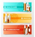 Medicines Banners Set vector image vector image