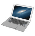 model a laptop on white background vector image vector image