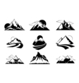 Mountains silhouettes Mountain set for outdoor vector image vector image