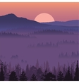 Natural landscape with sunset vector image vector image