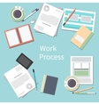 Office desk with personal accessories vector image vector image