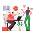 office workers man woman colleague characters vector image