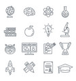 online education thin lines web icon set vector image