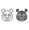 panda line and glyph icon animal and zoo bear vector image vector image