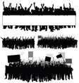 people silhouette with transparent on white part vector image