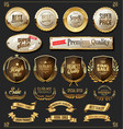 retro golden ribbons labels and shields vector image vector image
