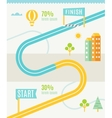 Road Map Infographics Template vector image vector image