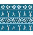 Scandinavian christmas winter seamless knitted vector image vector image