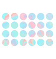 set blue and pink hologram circle background vector image vector image