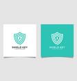 shield key logo designs vector image vector image