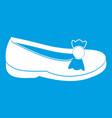 shoe icon white vector image vector image