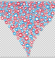 social network symbol like and thumbs up icons vector image vector image