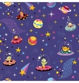 space pattern with cute aliens vector image vector image