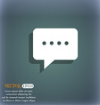 Speech bubbles icon On the blue-green abstract vector image